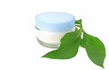 Cream bio natural skin care cosmetic on white background Royalty Free Stock Photos