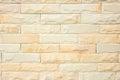 Cream brick wall texture Royalty Free Stock Photo