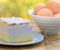 Cream cake cream pie is a delicious and healthy dessert Royalty Free Stock Photography