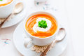 Cream Carrot Soup in a Cup Royalty Free Stock Photo