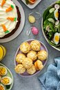 Cream cheese muffins for Easter