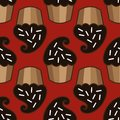 Cream choco cake seamless pattern Royalty Free Stock Photo
