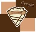 Cream crepe