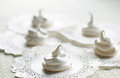 Cream meringues Stock Photography