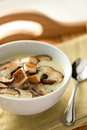 Cream of Mushroom Soup Stock Photo