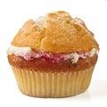 Cream n raspberry muffin Royalty Free Stock Image