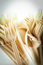 Cream Plastic Cutlery Royalty Free Stock Photo