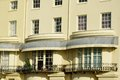 Cream seaside building in UK Royalty Free Stock Photo