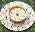 Cream soup with herbs a Royalty Free Stock Images