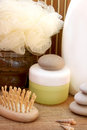 Cream and spa things Royalty Free Stock Photos