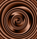 Creamy chocolate swirl Royalty Free Stock Photo