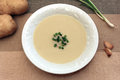 Creamy garlic and potato soup Royalty Free Stock Photo