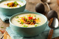 Creamy Loaded Baked Potato Soup Royalty Free Stock Photo