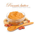Creamy peanut butter Royalty Free Stock Photo