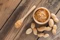 Creamy peanut butter selective focus Stock Photography