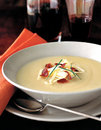 Creamy potato soup with bacon Stock Image