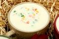 Creamy Potato Vegetable Soup Stock Photo