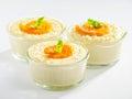 Creamy tahini dessert isolated on white background Royalty Free Stock Image