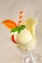 Creamy tropical icecream dessert Stock Image