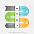 Crease progress infographic vector illustration of design element Stock Photo