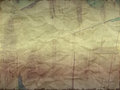 Creased paper with wood effect in light shade torn edges Stock Photos