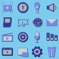 Create application icons with shadow stock vector Royalty Free Stock Images