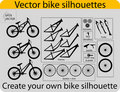 Create bike silhouettes Stock Photos
