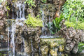 Create a decorative waterfall in the garden Royalty Free Stock Photo