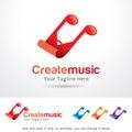 Create Music Logo Template Design Vector