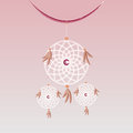 Create sweet dream catcher hanging element stock Royalty Free Stock Photography