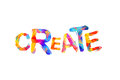 Create. Word of triangular letters