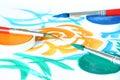 Creatief - borstel & kleur Stock Foto