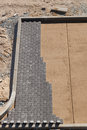Creating the pavement making in construction site from above Royalty Free Stock Photo