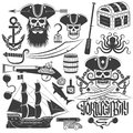 Creating pirate logo Royalty Free Stock Photo
