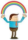 Creating rainbow Stock Image