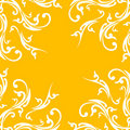 Creative abstract background with floral element on orange color Royalty Free Stock Photo