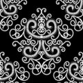 Creative abstract black and white seamless pattern. Vector artis Royalty Free Stock Photo