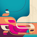 Creative abstract illustration. Stock Photos