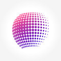 Creative abstract, vibrant and colorful icon Sphere Globe Royalty Free Stock Photo