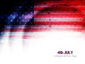 Creative american flag theme background design for independence day vector illustration Stock Photo