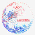Creative american independence day background design Stock Image