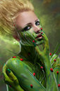Creative beauty shot with body-art Royalty Free Stock Photo