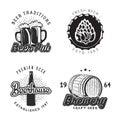 Creative beer set of logos design. Vector illustration.