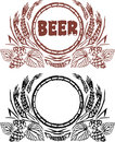 Creative beer vintage design Royalty Free Stock Photo