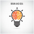 Creative brain idea concept background design for poster flyer cover brochure business dea abstract background vector illustration Stock Photos