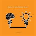 Creative brainstorm concept business and education idea innova innovation solution design vector illustration Stock Photography