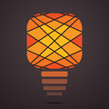 Creative bulb design illustration Royalty Free Stock Photos