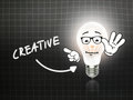 Creative Bulb Lamp Energy Light blackboard Royalty Free Stock Photo
