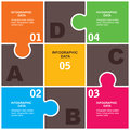 Creative business infographics colorful puzzle infographic businessl design stock vctor Royalty Free Stock Photography