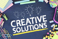 Creative business solutions ideas and Royalty Free Stock Image